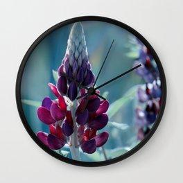 Lupine Blue 135 Wall Clock