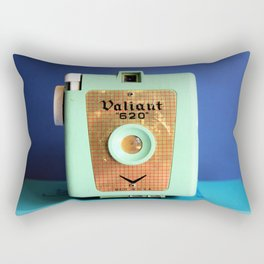 Minty Camera Rectangular Pillow