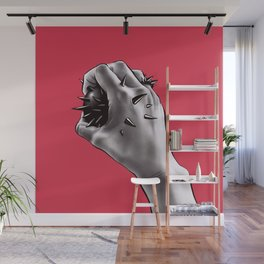 Painful Experiment With Stabbed Hand | Horror Art Wall Mural