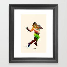 Trophy Pose Framed Art Print