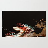 inception Area & Throw Rugs featuring Inception by Courtney Decker