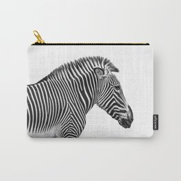 Zebra Photography   Animal Minimalism   Wildlife Art   Black and White Carry-All Pouch