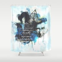 dumbledore Shower Curtains featuring Dumbledore by Rose's Creation