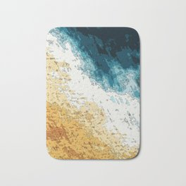 Satellite generative illustration Bath Mat