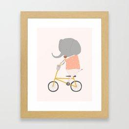 Margaux Rides Framed Art Print