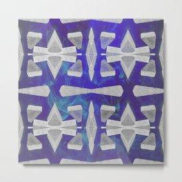 Breeze Block blue Metal Print
