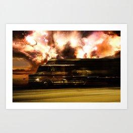 Camión en la ruta USA Route 66 Art Print