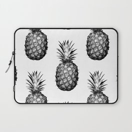 Black & White Pineapple Laptop Sleeve