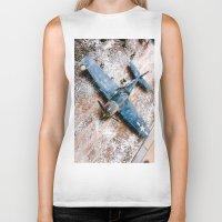 airplane Biker Tanks featuring Airplane by Mauricio Santana