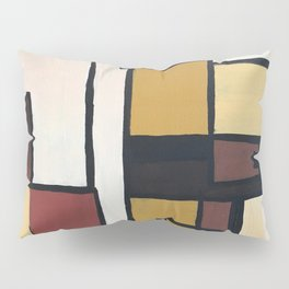 Composition with squares and rectangles Pillow Sham