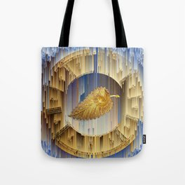 Golden Leaf in the endless dial Tote Bag
