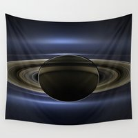 saturn Wall Tapestries featuring Saturn by 2sweet4words Designs