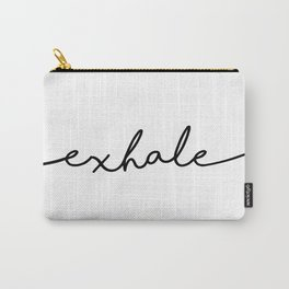 Exhale, 2 of 2 prints, Yoga Art Carry-All Pouch