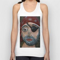 pirate Tank Tops featuring Pirate by Fine2art
