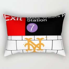 NYC Subway Rectangular Pillow