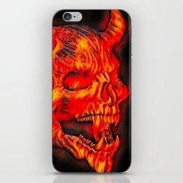 Airbrush Devil Skull iPhone Skin