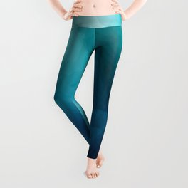 """""""Inner Calm"""" Turquoise Modern Contemporary Abstract Leggings"""