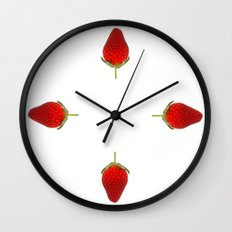 It's Strawberry Time Wall Clock