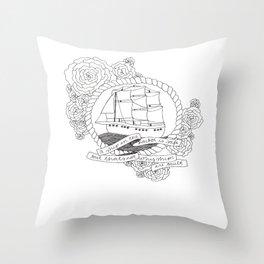 A Ship in the Harbor Throw Pillow