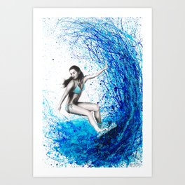 Thoughts and Waves Art Print