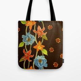 Vintage Flowery Serpentine Tote Bag