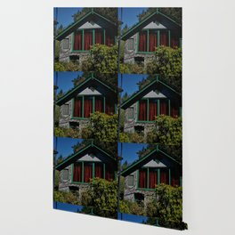 Flower House Wallpaper