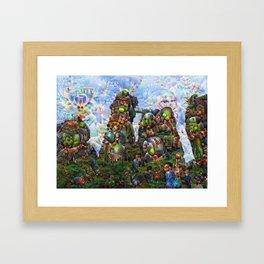 DeepDream Pictures, Rocks Framed Art Print