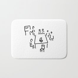 meeting with presentation occupation Bath Mat