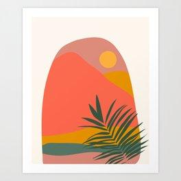 Tropical Landscape Art Print