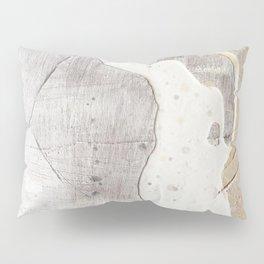 Feels: a neutral, textured, abstract piece in whites by Alyssa Hamilton Art Pillow Sham