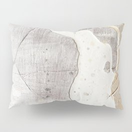 Feels: a neutral, textured, abstract piece in whites by Alyssa Hamilton Art Pillow Sham