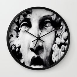 Stone Face by Igh Kihl Media Piffington Kushfield Photography Wall Clock