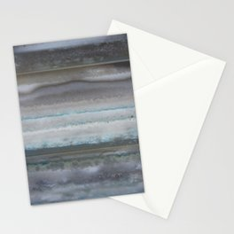 Agate Stripe Gray Stationery Cards