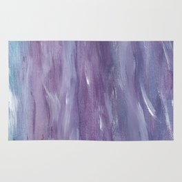 Touching Purple Blue Watercolor Abstract #1 #painting #decor #art #society6 Rug