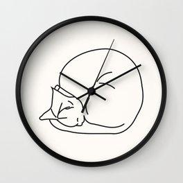Sleeping cat III Wall Clock
