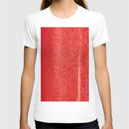 Crinkled Bold Red Foil Texture Christmas/ Holiday T-shirt