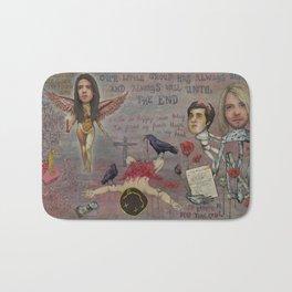 Nirvana - Light My Candles In A Daze Cause My Heart Shaped Box Is Broke Bath Mat