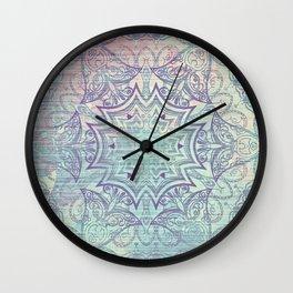 Grunge Mandala Wall Clock