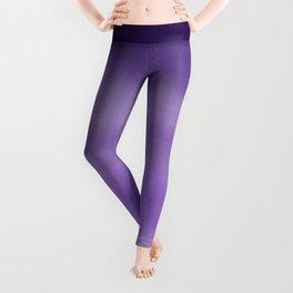 Modern painted purple lavender ombre watercolor Leggings