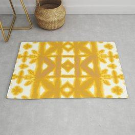 Yellow Pima Shibori Rug