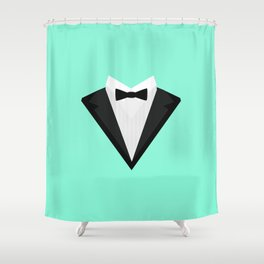 Black Tuxedo Suit with bow tie T-Shirt D946n Shower Curtain