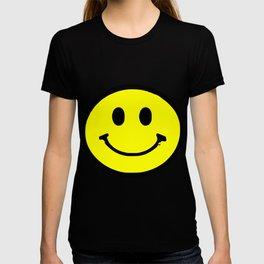 smiley face rave music logo T-shirt