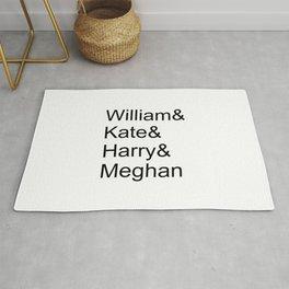 William & Kate & Harry & Meghan Rug