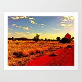 Red centre Art Print