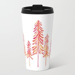 Pine Trees – Pink & Peach Ombré Travel Mug