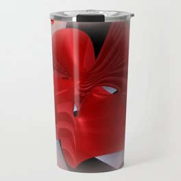 red polynomial flower -2- Travel Mug
