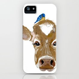 Bluebird Cow iPhone Case
