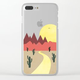 Desert and mountains Clear iPhone Case