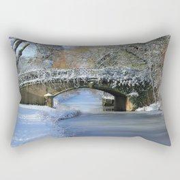 Winter at Lady's Bridge Rectangular Pillow