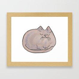 Sleepy Kitty Lump Framed Art Print